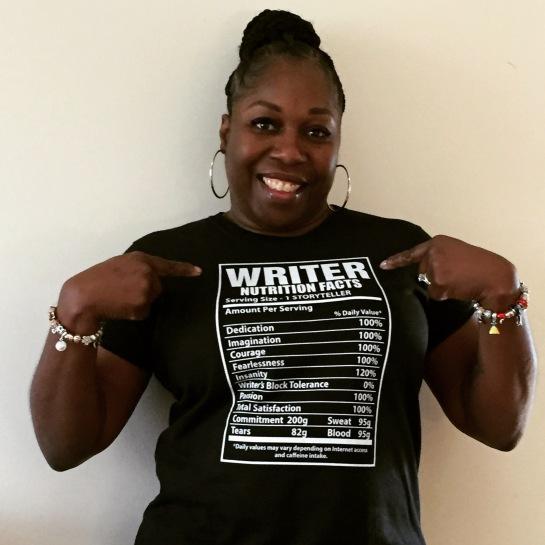 Writer Tshirt Pointing